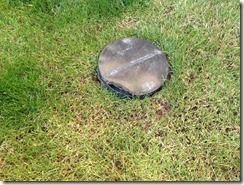 Backyard Drain today: fixing the backyard drainage pipe cap | jorgep